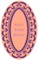 Monarch Vertical Oval Bridal Shower Labels