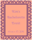 Monarch Vertical Rectangle Bridal Shower Labels