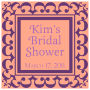 Monarch Small Square Bridal Shower Labels
