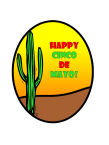 Cinco de Mayo Holiday Food and Craft Oval Label