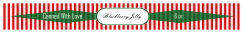 Blackberry Rectangle Christmas Canning Labels 1x9