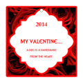 Valentine Apple Dumpling Large Square Hang Tag
