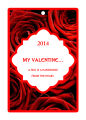 Valentine Apple Dumpling Vertical Large Rectangle Hang Tag