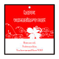 Valentine Curlicue Large Square Hang Tag