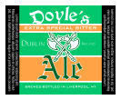 Dublin Square Text Beer Labels