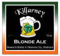 Killarney Square Irish Beer Labels