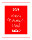 Valentine Classical Vertical Big Rectangle Label