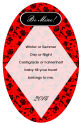 Valentine Floral Text Oval Label