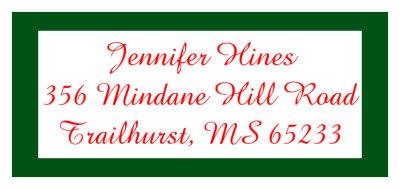christmas memorable address labels design and print custom labels