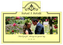 Elegant Wine Wedding Photo Labels 4.25x3