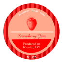Strawberry Fields Wide Mouth Ball Jar Topper Insert