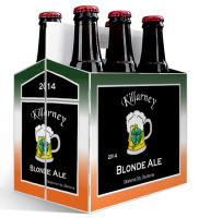 6 Pack Carrier Killarney includes plain 6 pack carrier and custom pre-cut labels