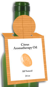 Citrus Aromatherapy Oil Rectangle Bottle Tags