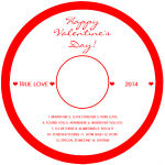 Valentine Mini Hearts CD/DVD labels