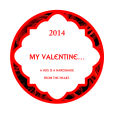 Valentine Rose Big Circle Label