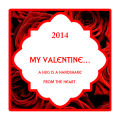 Valentine Rose Large Square Label