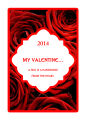 Valentine Rose Large Rectangle Label