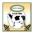 Cow Patch Large Square Food & Craft Hang Tag