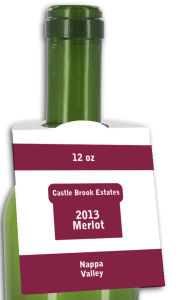 Merlot Rounded Wine Bottle Tags