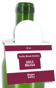 Merlot Square Wine Bottle Tags