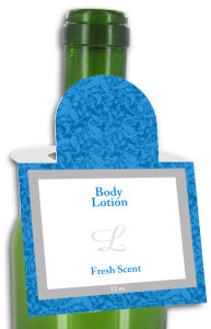 Fresh Scent Body Lotion Square Bottle Tags