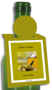 Olive Oil Rectangle Bottle Tags