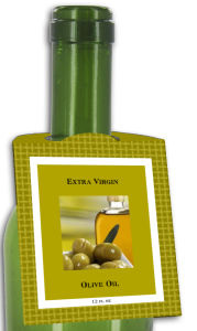 Olive Oil Rounded Bottle Tags