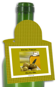 Olive Oil Square Bottle Tags