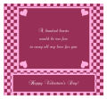 Valentines Day Hundred Hearts Standard Square Labels