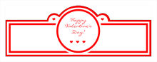 Valentine Mini Hearts Wedding Billboard Cigar Band Labels