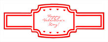 Valentine Mini Hearts Wedding Buckle Cigar Band Labels