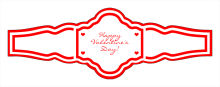 Valentine Mini Hearts Wedding Fancy Cigar Band Labels