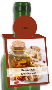 Peanut Oil Rectangle Bottle Tags