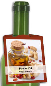 Peanut Oil Rounded Bottle Tags