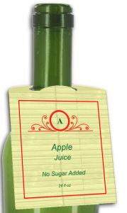Apple Juice Rounded Bottle Tags
