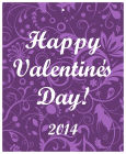 Valentine Serenity Big Vertical Rectangle Favor Tag
