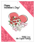 Happy Valentines Day Valentine Day Big Rectangle Hang Tags 3.25x4