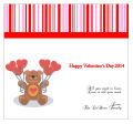 All You Need is Love Valentine Big Square Labels 3.5x3.25