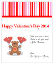 All You Need is Love Valentine Big Rectangle Labels 3.25x4