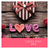 Valentine Small Square Photo Hang Tag With Text