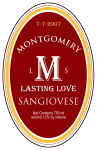 Character Large Vertical Oval Wine Label 3.25x5
