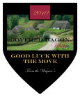Covered Wagon Shield Wine Labels