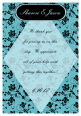 Floral Text Rectangle Wedding Labels