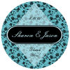 Floral Circle Wedding Coaster