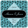 Floral Square Wedding Coaster