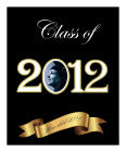 Congrats Vertical Big Rectangle Graduation Label