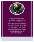 Grapes Vertical Text Rectangle 3.25x4