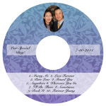 Leaf Pattern CD Wedding Label