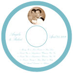 Memorable CD Wedding Labels