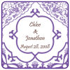 Square Modern Mulberry Wedding Coaster